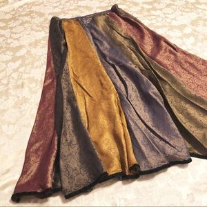 Chico's | Silk And Rayon Tribal Skirt Fall Colors